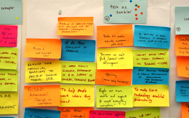 Agile wall with post-its