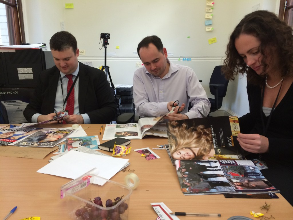 In workshops we asked people to create mood-boards to show us what their dream IT support service would look like.